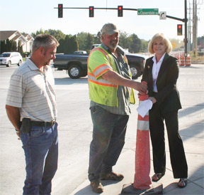 Ustick Cloverdale Intersection Opening